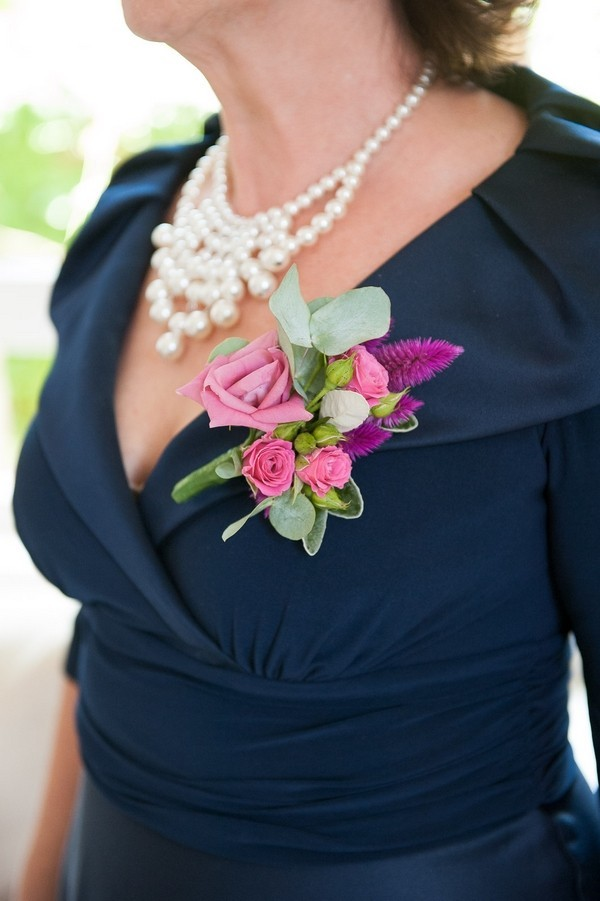 Mother of the Bride Wearing Corsage