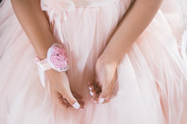 Pink Wrist Corsage