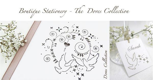The Doves Collection laser-cut stationery from The Hummingbird Card Company