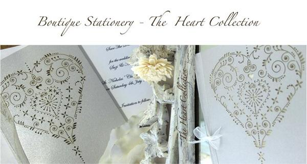 The Heart Collection laser-cut stationery from The Hummingbird Card Company