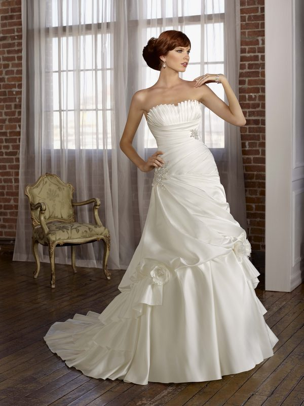4806 satin taffeta with jeweled embroidery the wedding for Mori lee taffeta wedding dress