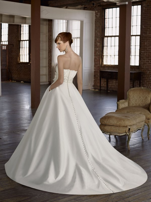 4811 radiant taffeta with embroidery back the wedding for Mori lee taffeta wedding dress