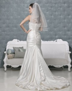 Picture of Back of Coco Wedding Dress - Amanda Wyatt 2011 Collection