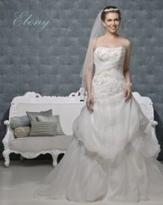 Picture of Ebony Ivory Wedding Dress - Amanda Wyatt 2011 Collection