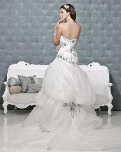 Picture of Back of Ebony Black Wedding Dress - Amanda Wyatt 2011 Collection