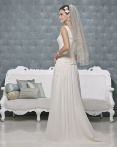 Picture of Back of Ginger Wedding Dress - Amanda Wyatt 2011 Collection