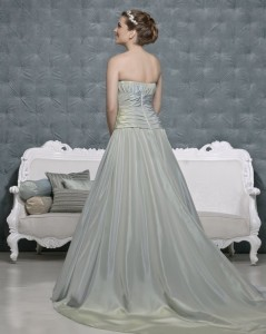 Picture of Back of Harper Mint Wedding Dress - Amanda Wyatt 2011 Collection