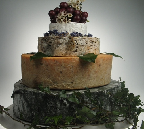 Picture of a Medium Cheese Stack Wedding Cake From The Cheese Society