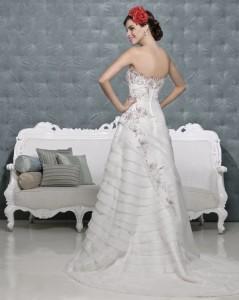 Picture of Back of Tegan Wedding Dress - Amanda Wyatt 2011 Collection