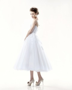 Picture of Back of Danbury Wedding Dress - Blue by Enzoani 2011 Collection