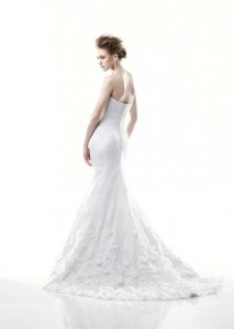Picture of Back of Davis Wedding Dress - Blue by Enzoani 2011 Collection