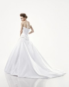 Picture of Back of Decantur Wedding Dress - Blue by Enzoani 2011 Collection