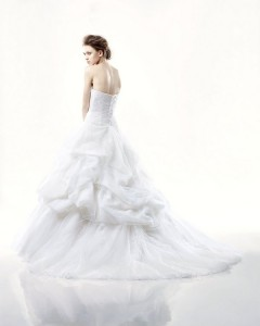 Picture of Back of Derby Wedding Dress - Blue by Enzoani 2011 Collection