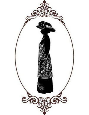 Silhouette produced by silhouette artist Alison Russell