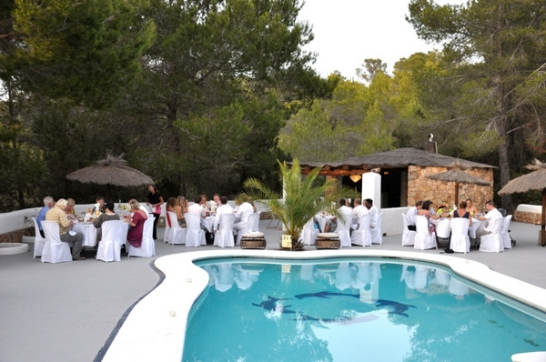 Wedding Breakfast by the Pool Ibiza