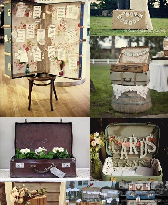 Vintage Suitcase Wedding Decorations