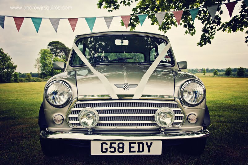 Mini wedding car by Andrew J R Squires Photography