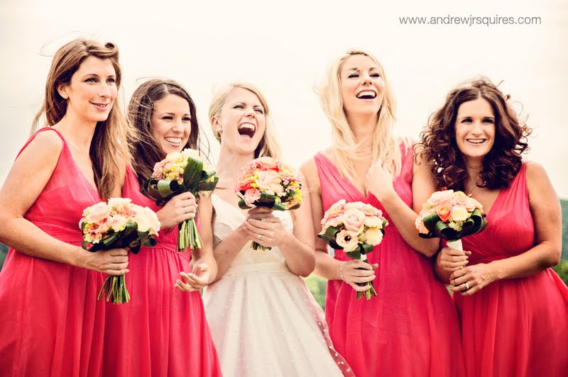 Bride and her bridesmaids by Andrew J R Squires Photography
