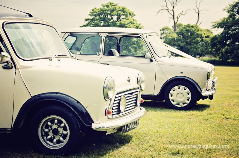 2 Mini wedding cars by Andrew J R Squires Photography