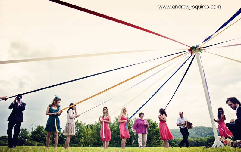 Maypole at a wedding by Andrew J R Squires Photography
