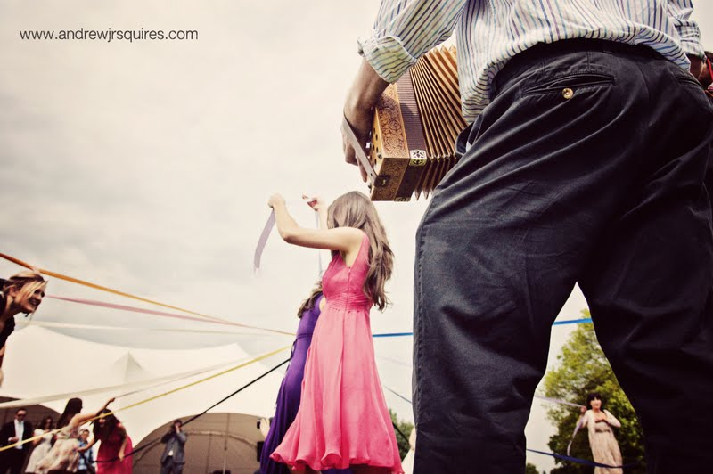 Maypole dancing at a wedding by Andrew J R Squires Photography
