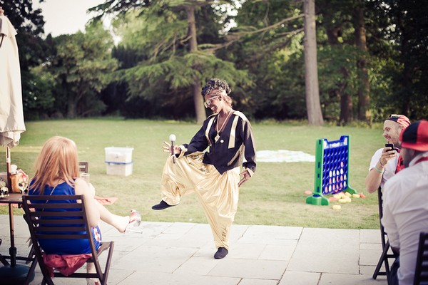 Wedding guest dressed as MC Hammer - Martins Kikulis Photography