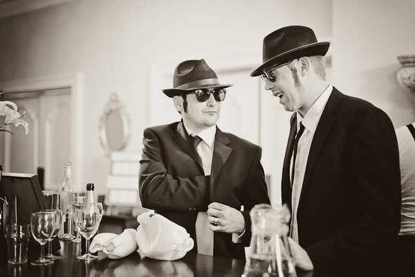 Wedding guests dressed as The Blues Brothers - Martins Kikulis Photography