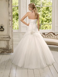 Picture of Back of 64001 Dalila Wedding Dress - Ronald Joyce 2011 Collection