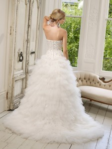 Picture of Back of 64005 Delfina Wedding Dress - Ronald Joyce 2011 Collection