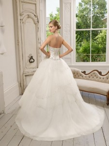 Picture of Back of 64012 Divina Wedding Dress - Ronald Joyce 2011 Collection