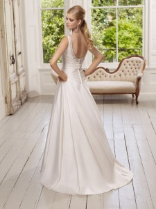 Picture of Back of 64018 Diamond Wedding Dress - Ronald Joyce 2011 Collection