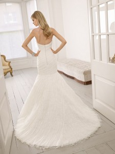 Picture of Back of 64021 Drew Wedding Dress - Ronald Joyce 2011 Collection