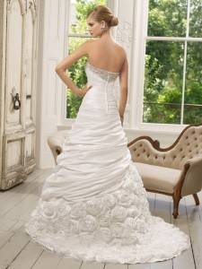 Picture of Back of 64022 Dulce Wedding Dress - Ronald Joyce 2011 Collection
