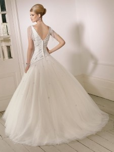 Picture of Back of 65001 Darcie Wedding Dress - Ronald Joyce 2011 Collection