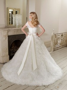 Picture of Back of 65005 Desdemona Wedding Dress - Ronald Joyce 2011 Collection
