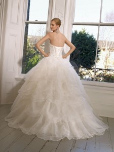 Picture of Back of 65006 Daryl Wedding Dress - Ronald Joyce 2011 Collection