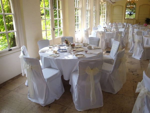 Wedding Chair Covers at Goldney Hall