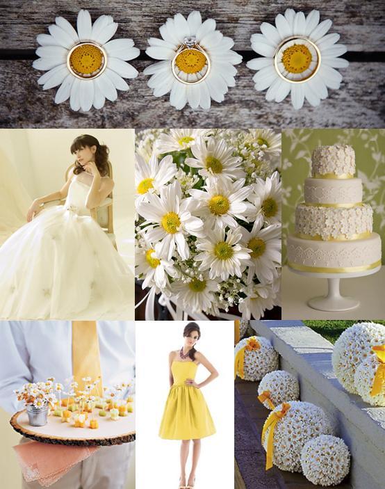 Daisy Wedding Ideas Mood Board
