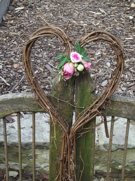 Heart Wreath by The Little Wedding Helper