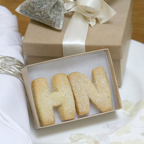 Initials Shaped Shortbread Wedding Favours - The Shortbread Gift Company