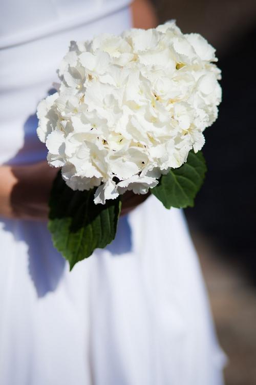White flower bridal bouquet - Sam Gibson Wedding Photography