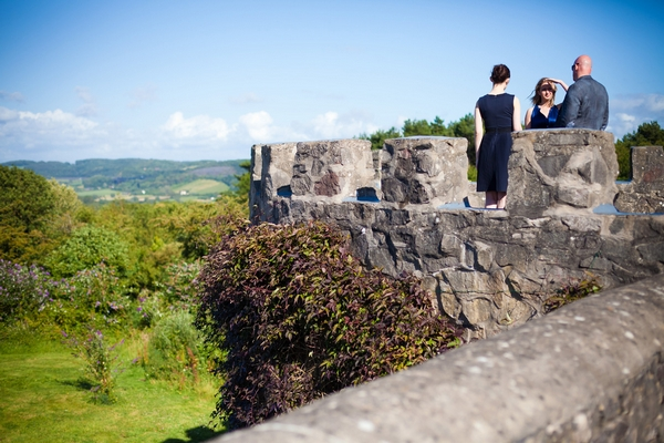 View from top of Walton Castle in Clevedon - Sam Gibson Wedding Photography