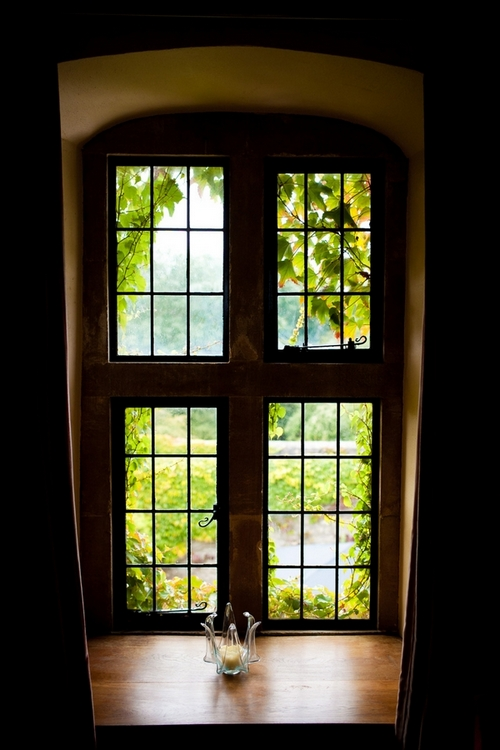 Window looking out of Walton Castle - Sam Gibson Wedding Photography