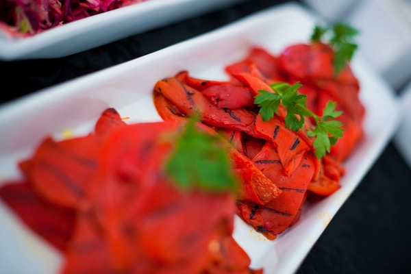 Char-grilled peppers - Sam Gibson Wedding Photography