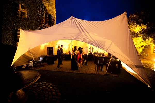 Marquee at Walton Castle in Clevedon