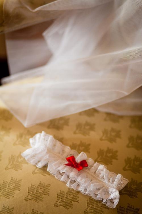 Wedding garter - Sam Gibson Wedding Photography