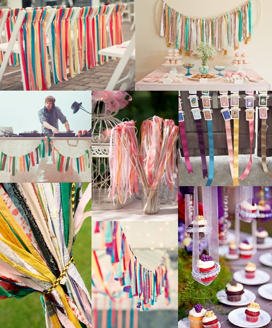 Ribbon Streamer Wedding Decorations