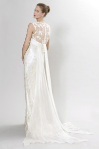 Picture of Back of Sibelius Wedding Dress - Langner Couture Berlino 2012 Collection