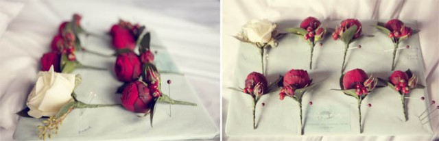 Rose buttonholes - Picture by Laura McCluskey Photography