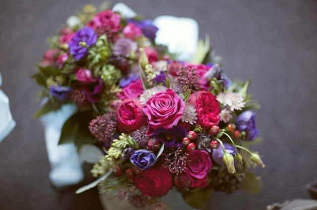 Wedding flowers - Picture by Laura McCluskey Photography